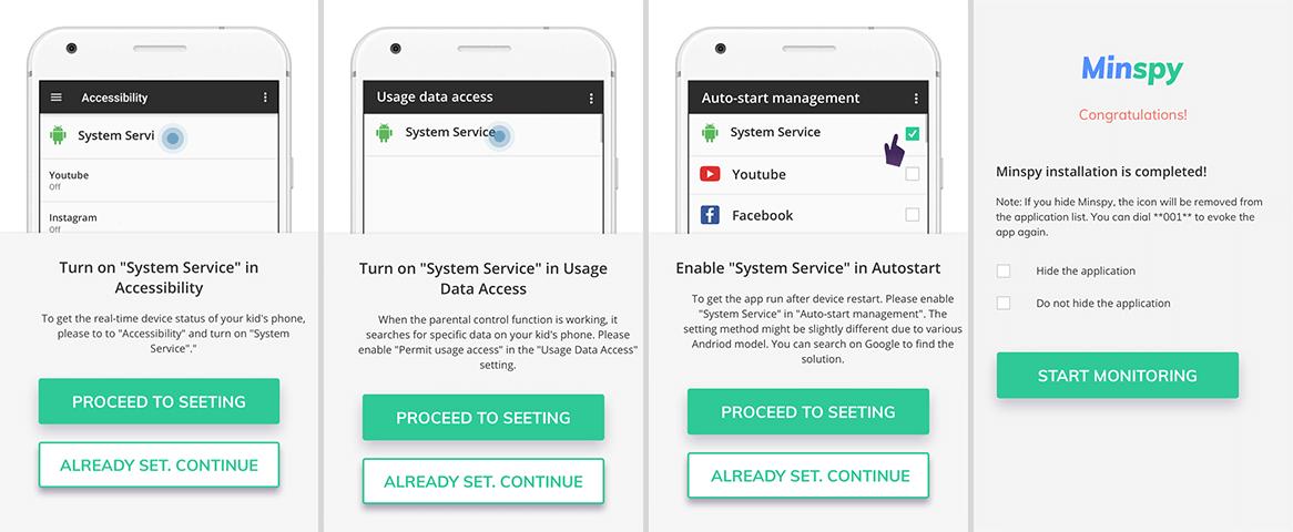 Minspy  android tracking app setup 02