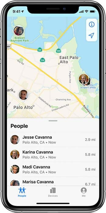 ios13-iphone-xs-find-my-people-tab