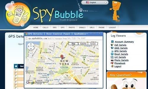 SpyBubble-Kontrol Paneli